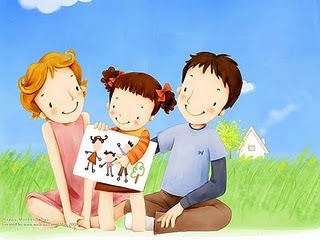 Lovely_illustration_little_girl_showing_family_drawing_to_parents_wallcoo_com.jpg